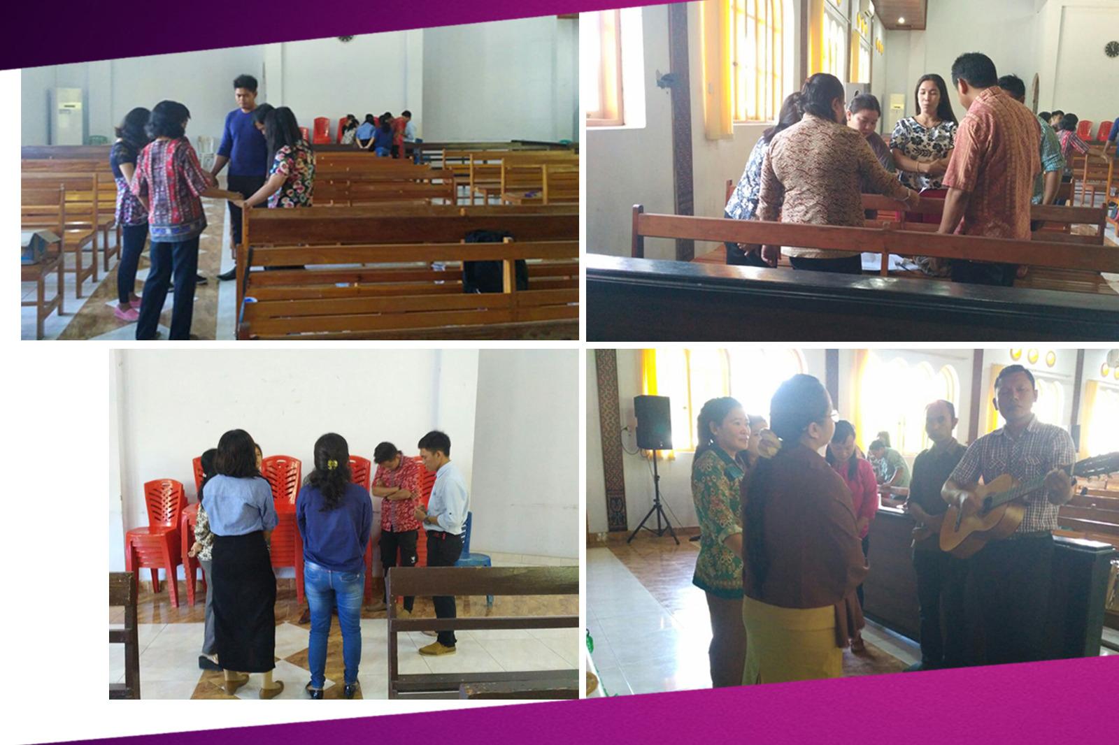 Berdoa bersama untuk kesejahteraan bangsa Indonesia dan juga atas kota Mamuju