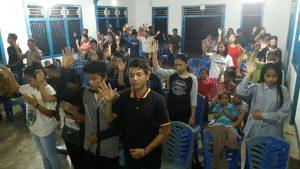 Suasana KKR kesembuhan di GKPKB Batang lintang, Kab sungai raya, Kec Ambawang